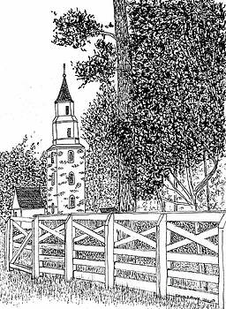 Historic Bruton Parish Episcopal Church Williamsburg Virginia Reconstructed District by Dawn Boyer