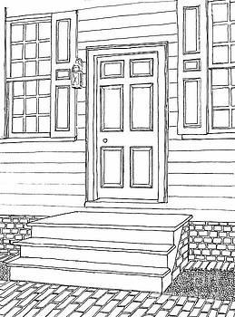 Historic Colonial District, Door, City of Williamsburg Virginia by Dawn Boyer