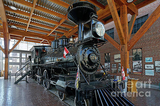 Historic Canadian Pacific Railway Steam Engine by John  Mitchell