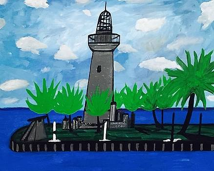 Historic Florida Lighthouse painting. Original by Jonathon Hansen