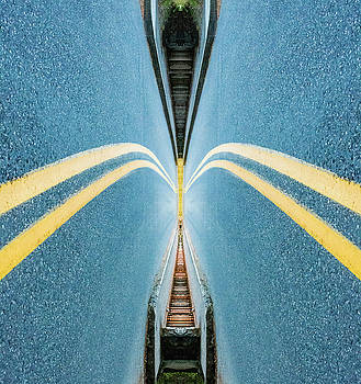 Pelo Blanco Photo - Historic Highway Reflection