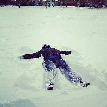 Historic Moment: 1st Snow Angel Ever by Pharen Bowman