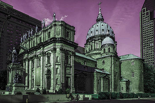 Historic Montreal Cathedral - Marie Reine Du Monde by Art America Gallery Peter Potter