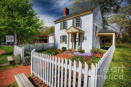 Historic Nelson House During Spring by George Oze
