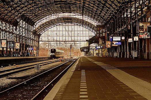 Historic railway station in Haarlem the Netherland by Yvon van der Wijk