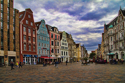 Historic Rostock Germany by David Smith