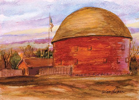 Historic Round Barn Arcadia Oklahoma by Wes Loper
