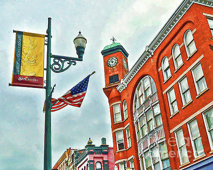 Historic Staunton Virginia - The Clocktower - Art of the Small Town by Kerri Farley