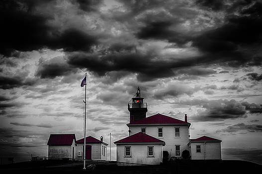 Historic Watch Hill Lighthouse, Westerly Rhode Island, circa 1808 by Skyelyte Photography by Linda Rasch