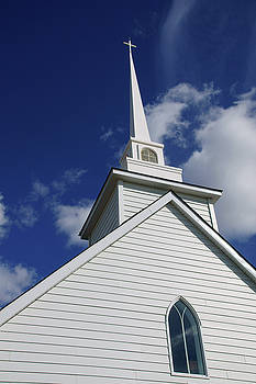 Historic White Church by Robert Braley