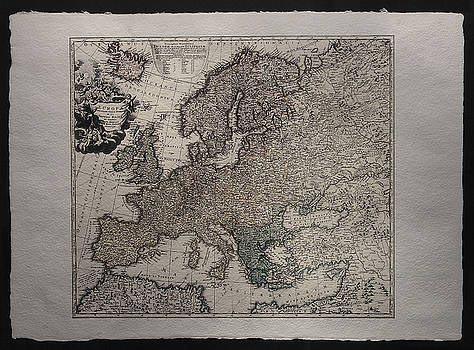 Historical map of Europe by Homann Johann Baptista
