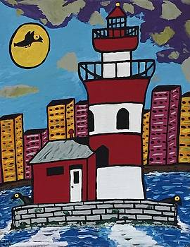 Historical Michigan lighthouse by Jonathon Hansen