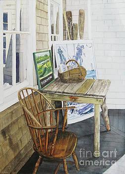 Historical Society Porch by Carol Flagg