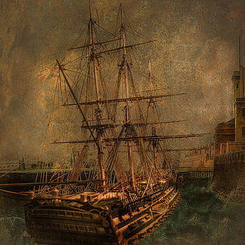 HMS Victory at Portsmouth by Jeff Burgess