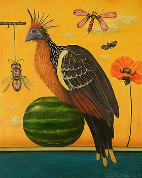 Leah Saulnier The Painting Maniac - Hoatzin 2
