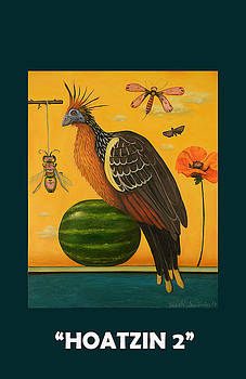 Leah Saulnier The Painting Maniac - Hoatzin 2 with Lettering