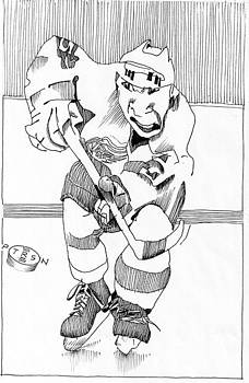 Hockey Player by Gary Peterson