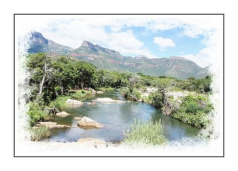 Hoedspruit - view from a bridge by Jaqueline Briel