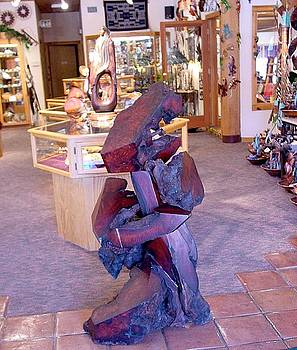 Hogan Trading Company Abstract Redwood Sculpture Display by Daryl Stokes