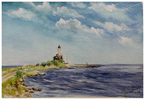 Hogby Lighthouse by Mona Davis