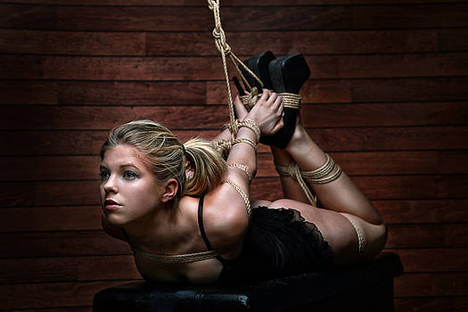 Rod Meier - Hogtie - Tied up girl - Fine Art of Bondage