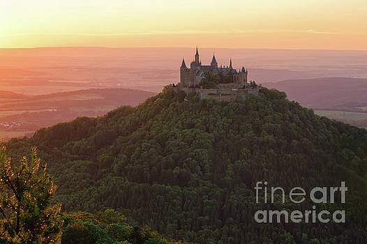 Hohenzollern Castle at Sunset by Yair Karelic
