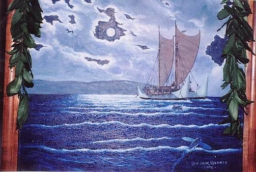 Hokulea-Hawaiian Voyaging Soc. by Leif Thor Kvammen