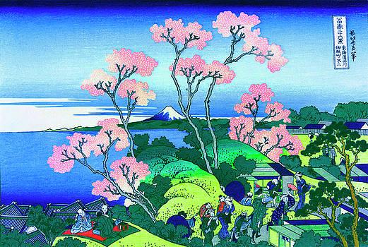 Hokusai Goten Yama Hill Shinagawa on the Tokaido by Katsushika Hokusai