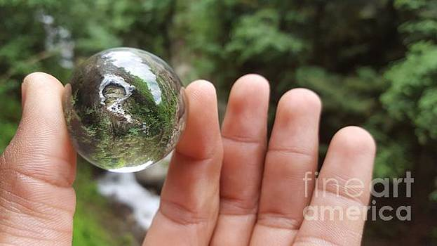 Holding The River In My Hand by Ram Photography