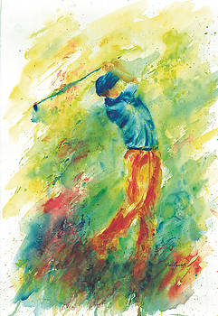 Hole In One Golfer  by Barb Capeletti