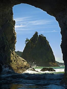 Hole in the Wall at Rialto Beach Washington by Matt Shiffler