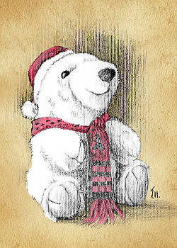 Holiday Bear Card by Joe Winkler
