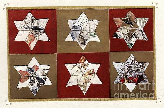 Holiday Card with Stars by Susan Minier