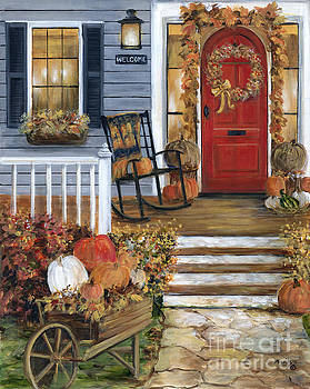 Pumpkin Porch by Marilyn Dunlap