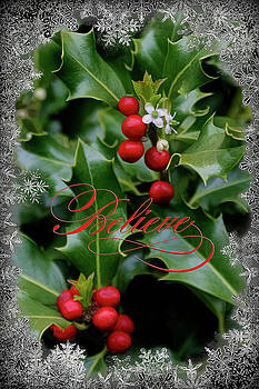 Holiday Holly Believe by Wes and Dotty Weber