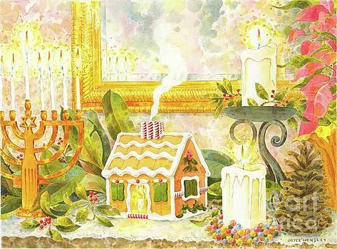 Holiday Mantelpiece by Joyce Hensley