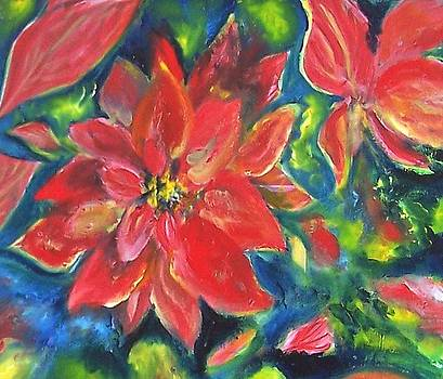 Patricia Taylor - Holiday Poinsettia Floral Centerpiece