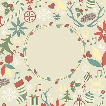 Sophie McAulay - Holiday symbols christmas card