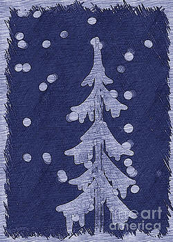 Holiday Tree Collection Blue by Linda Joyce