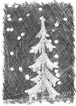 Holiday Tree Collection Grey by Linda Joyce