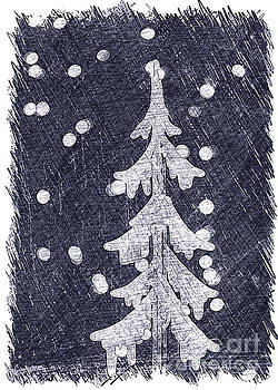 Holiday Tree Collection Navy by Linda Joyce