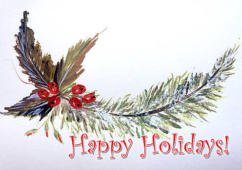 Holidays Card - 2 by Dorothy Maier