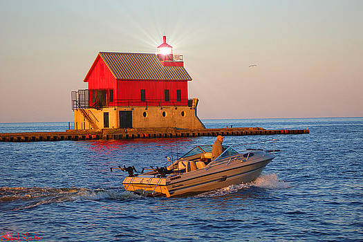 Holland Harbor Lighthouse by Michael Rucker
