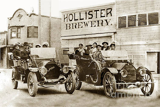 California Views Mr Pat Hathaway Archives - Hollister Brewery on San Benito St. with two cars