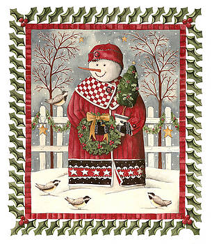 Holly Jolly Snowman by Kathy Schmitz