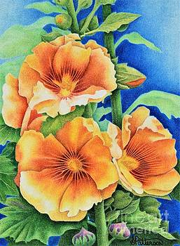 Hollyhocks by Sharon Patterson