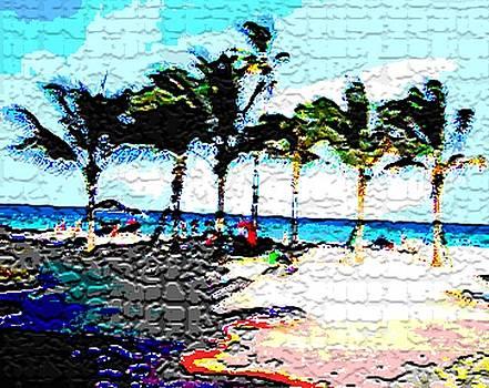 Hollywood Beach Fla Digital by Dick Sauer