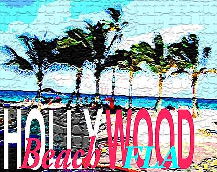 Hollywood Beach Fla Poster by Dick Sauer