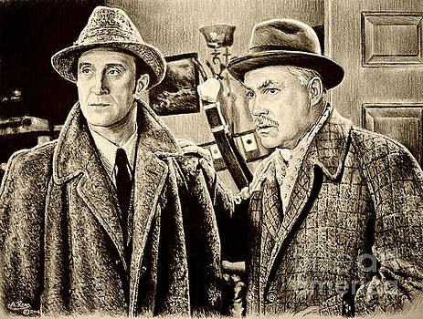 Holmes and Watson sepia by Andrew Read