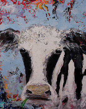 Holstein Cow Painting Farm House Wall Art Cow Art by Gray Artus